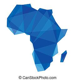 konzervativní, mapa, móda, afrika, origami