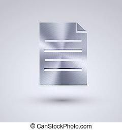 konzervativní, plný, eps10, kov, grafické pozadí., vektor, ikona