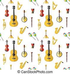 konzervativní, vektor, Hudba, červeň, digitální