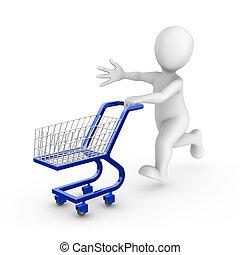 konzervativní, vydat, shopping vozík, neposkvrněný, voják, 3