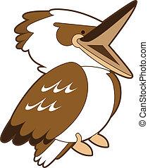 kookaburra, rire