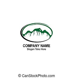 Ko'olau mountain design template vector illustration