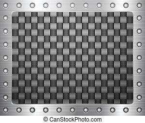 koolstof, frame, metaal