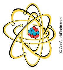 koolstof, nucleaire structuur, atoom
