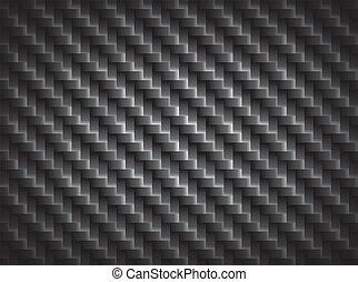 koolstof, vezel, textuur, grens, crosswise, vezels,...
