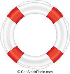 koord, lifebuoy, (salvation), rood, strepen