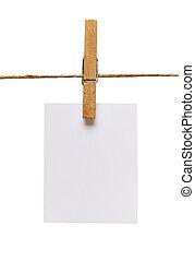 koord, merk papier op, lijn, pin, kleren