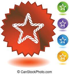 koord, starburst, set, pictogram