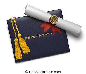 koorden, boekrol, eer, diploma