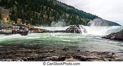 kootenai, rivière, nord, montana, ouest