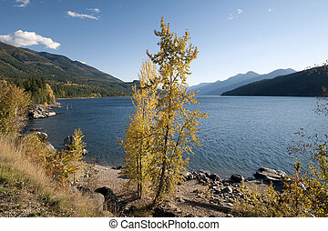 Kootenay Lake and Purcell Mountains, British Columbia, Canada