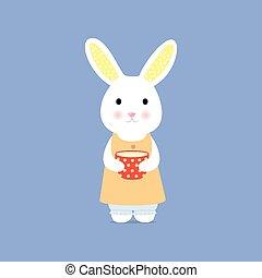 kop, schattig, konijn