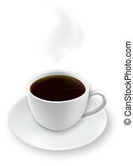 kop, van, coffee.