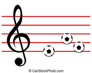 kopaná, hudba