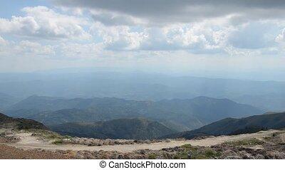 Kopaonik Mountain Range - Panning shot of a scenic view of...