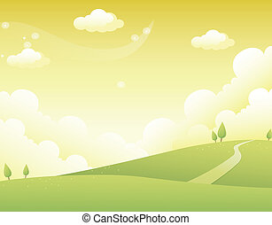 kopec, cesta