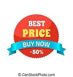 kopen, -50, prijs, illustratie, vector, nu, best