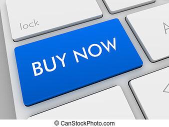 kopen, concept, illustratie, toetsenbord