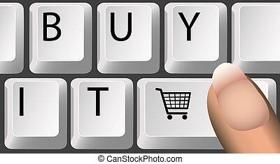kopen, informatietechnologie, toetsenbord
