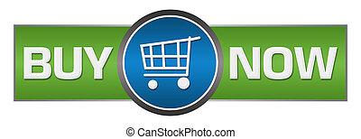 kopen nu, groen blauw, cirkel, centrum