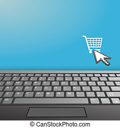 kopen, ruimte, draagbare computer, internet, toetsenbord, kopie, pictogram