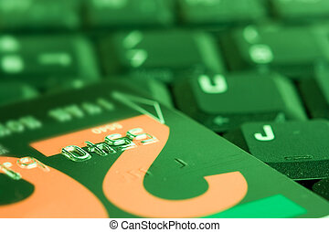 kopen, shoppen , zakelijk, toetsenbord, krediet, online, internet, gereed, kaart