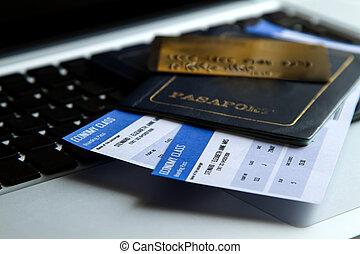 kopende kaartjes, luchtroute