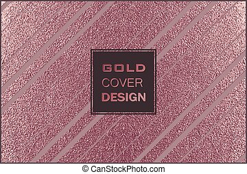 koper, moderne, metaal, metalen, achtergrond., glanzend, modieus, design., texture., brons, minimaal