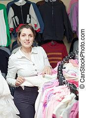 koper, op, de opslag van de kleding