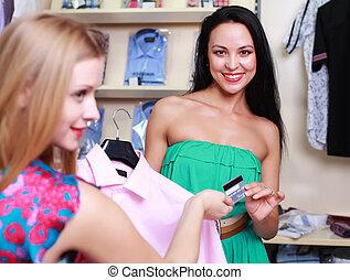 koper, op, een, de opslag van de kleding