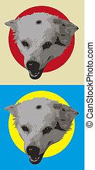 kopf, hund, design