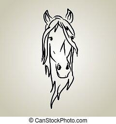 kopf, pferd
