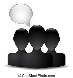kopf, silhouette, mann