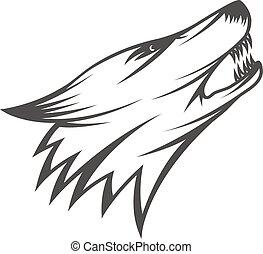 kopf, wolf, abbildung
