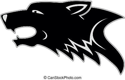 kopf, wolf