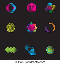 kopfsprung, symbol, modern, firma, muster