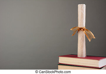 kopia, książki, dyplom, przestrzeń