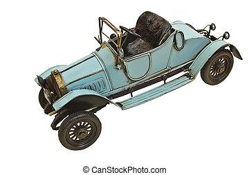 kopia, od, na, starożytny wóz