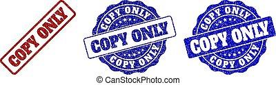 kopie, alleen, grunge, postzegel, zegels