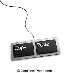 kopie, deeg, toetsenbord, (plagiarist, tool)