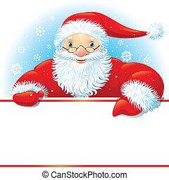 kopie, kerstman, ruimte
