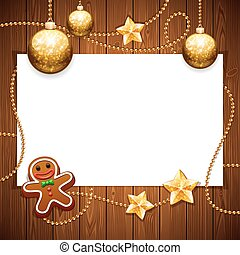 kopie, kerstmis, achtergrond, ruimte