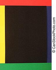 kopie, kleurrijke, achtergrond, ruimte