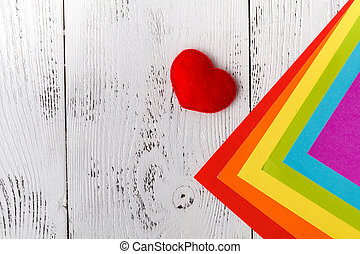 kopie, papieren, kleurrijke, ruimte