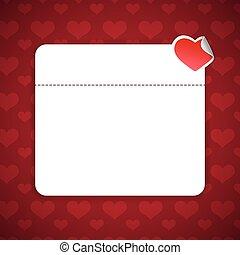 kopie, valentines dag, achtergrond, ruimte