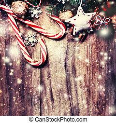 kopie, weihnachten, hintergrund, raum