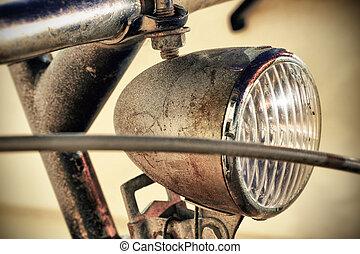 koplamp, fiets