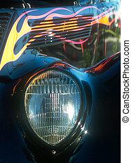 koplamp, roadster