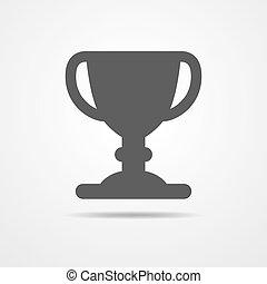 kopp, vektor, -, illustration., ikon