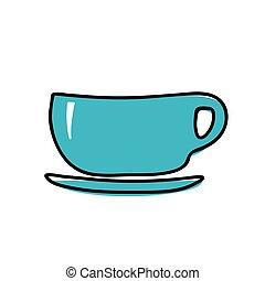 kopp, vektor, illustration, ikon